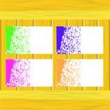 Εμβλήματα του χρωματισμένου χρώματος παφλασμών Στοκ φωτογραφία με δικαίωμα ελεύθερης χρήσης