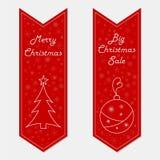 Εμβλήματα Χριστουγέννων στο αναδρομικό ύφος Στοκ Εικόνα