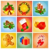 Εμβλήματα Χριστουγέννων Στοκ εικόνες με δικαίωμα ελεύθερης χρήσης