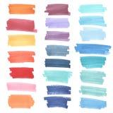 Εμβλήματα χρώματος που σύρονται με τους δείκτες της Ιαπωνίας Μοντέρνα στοιχεία για το σχέδιο Διανυσματικό κτύπημα δεικτών Στοκ Φωτογραφία