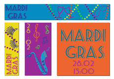 Εμβλήματα gras της Mardi Στοκ φωτογραφία με δικαίωμα ελεύθερης χρήσης
