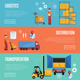 Εμβλήματα infographics διαδικασίας αποθηκών εμπορευμάτων Στοκ Εικόνα