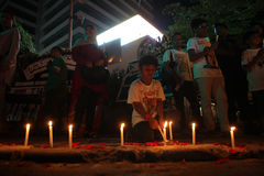 Εμείς μη φοβισμένη εκστρατεία μετά από το φύσημα της Τζακάρτα στοκ εικόνα με δικαίωμα ελεύθερης χρήσης
