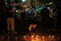 Εμείς μη φοβισμένη εκστρατεία μετά από το φύσημα της Τζακάρτα στοκ φωτογραφίες με δικαίωμα ελεύθερης χρήσης