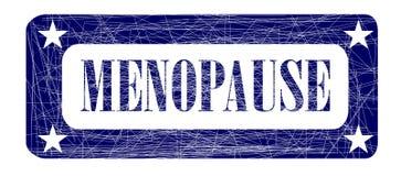 Εμμηνόπαυση γραμματοσήμων μπλε μελανιού Στοκ Φωτογραφίες