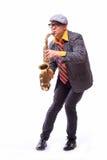 Εμπαθής εκφραστικός αρσενικός φορέας Alto Saxophone Στοκ φωτογραφία με δικαίωμα ελεύθερης χρήσης