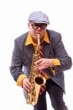 Εμπαθής εκφραστικός αρσενικός φορέας Alto Saxophone Στοκ Φωτογραφίες