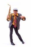 Εμπαθής εκφραστικός αρσενικός φορέας Alto Saxophone Στοκ Φωτογραφία