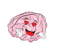 Εμπαθή κινούμενα σχέδια εγκεφάλου Στοκ εικόνα με δικαίωμα ελεύθερης χρήσης