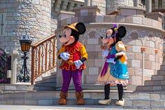 Εμπαιγμός και Minnie στη βασιλική φιλία Faire του εμπαιγμού σε Cinderella Castle στο μαγικό βασίλειο 3 στοκ εικόνες