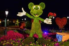 Εμπαιγμός topiarie σε ένα ρομαντικό πικ-νίκ dayEpcot στον κόσμο Walt Disney στοκ φωτογραφία με δικαίωμα ελεύθερης χρήσης