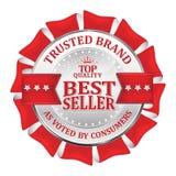 Εμπιστευμένο εμπορικό σήμα Καλύτερος πωλητής, κορυφαία ποιότητα Στοκ φωτογραφίες με δικαίωμα ελεύθερης χρήσης