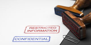 Εμπιστευτική πληροφορία, στοιχεία Clasified Στοκ Φωτογραφίες