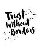 Εμπιστοσύνη χωρίς σύνορα Απεικόνιση αποθεμάτων