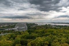 Εμπνευσμένη buckminster-Fullerine βιόσφαιρα του Μόντρεαλ στοκ εικόνες