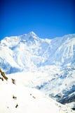 Εμπνευσμένο τοπίο βουνών, σειρά Νεπάλ Annapurna Στοκ φωτογραφία με δικαίωμα ελεύθερης χρήσης