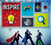 Εμπνεύστε αισιόδοξη έννοια οράματος έμπνευσης τη δημιουργική στοκ εικόνα με δικαίωμα ελεύθερης χρήσης