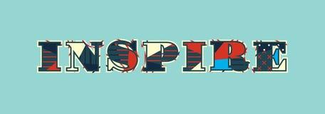 Εμπνεύστε την απεικόνιση τέχνης του Word έννοιας απεικόνιση αποθεμάτων