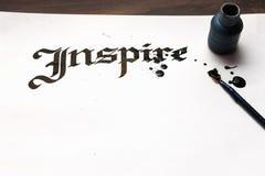 Εμπνεύστε την καλλιγραφία E στοκ εικόνες με δικαίωμα ελεύθερης χρήσης