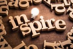 Εμπνεύστε το θέμα ιδέας στοκ εικόνα