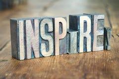 Εμπνεύστε το ξύλο λέξης στοκ φωτογραφία με δικαίωμα ελεύθερης χρήσης