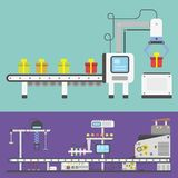 Εμπορευματοκιβωτίων τελικός παραγωγής μεταφορέων βιομηχανικός τεχνολογίας εργοστασίων μεταφορέας γραμμών μηχανών εξοπλισμού διανυ ελεύθερη απεικόνιση δικαιώματος