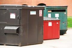 Εμπορευματοκιβώτια απορριμμάτων Στοκ Φωτογραφίες