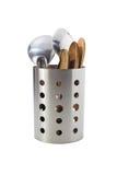 Εμπορευματοκιβώτια για τα εργαλεία κουζινών όπως ο Turner, οι κουτάλες, τα κουτάλια, chopsticks, κ.λπ. Στοκ Φωτογραφία