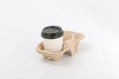 Εμπορευματοκιβώτια για το γρήγορο φαγητό και τα ποτά υλικά ανακυκλώσιμα Στοκ Εικόνα