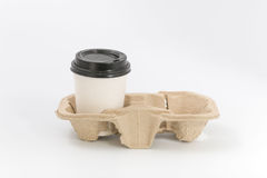 Εμπορευματοκιβώτια για το γρήγορο φαγητό και τα ποτά υλικά ανακυκλώσιμα Στοκ εικόνα με δικαίωμα ελεύθερης χρήσης