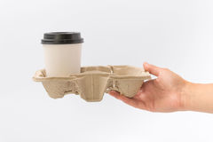 Εμπορευματοκιβώτια για το γρήγορο φαγητό και τα ποτά υλικά ανακυκλώσιμα Στοκ Φωτογραφίες