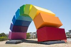 Εμπορευματοκιβώτια θάλασσας ουράνιων τόξων Fremantle Στοκ εικόνες με δικαίωμα ελεύθερης χρήσης