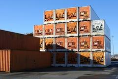 εμπορευματοκιβώτια κα&ta Στοκ φωτογραφία με δικαίωμα ελεύθερης χρήσης