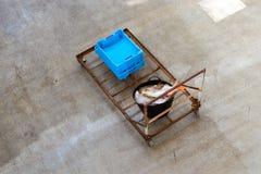 Εμπορευματοκιβώτια με τις λιχουδιές Blanes ψαριών θάλασσας σύλληψης στοκ εικόνες με δικαίωμα ελεύθερης χρήσης