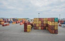 Εμπορευματοκιβώτια ναυπηγείων Στοκ Φωτογραφία