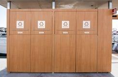 Εμπορευματοκιβώτια οικιακών απορριμάτων Στοκ Εικόνες
