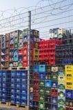 Εμπορευματοκιβώτια ποτών Στοκ φωτογραφία με δικαίωμα ελεύθερης χρήσης