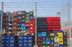 Εμπορευματοκιβώτια ποτών Στοκ φωτογραφίες με δικαίωμα ελεύθερης χρήσης