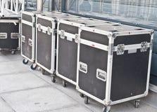 εμπορευματοκιβώτια που ανάβουν τον ήχο προϊόντων Στοκ φωτογραφίες με δικαίωμα ελεύθερης χρήσης