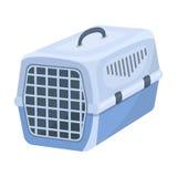 Εμπορευματοκιβώτιο για τα ζώα Ενιαίο εικονίδιο καταστημάτων της Pet στο ύφος κινούμενων σχεδίων rater, Ιστός απεικόνισης αποθεμάτ Στοκ Φωτογραφία