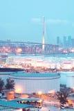 Εμπορευματοκιβώτιο και γέφυρα αερίου Στοκ εικόνες με δικαίωμα ελεύθερης χρήσης