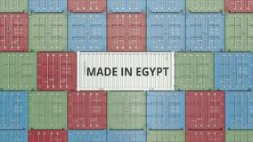 Εμπορευματοκιβώτιο με ΚΑΜΕΝΟΣ στο κείμενο της ΑΙΓΥΠΤΟΥ Η αιγυπτιακή εισαγωγή ή η εξαγωγή αφορούσε την τρισδιάστατη απόδοση ελεύθερη απεικόνιση δικαιώματος
