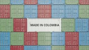 Εμπορευματοκιβώτιο με ΚΑΜΕΝΟΣ στο κείμενο της ΚΟΛΟΜΒΙΑΣ Η κολομβιανή εισαγωγή ή η εξαγωγή αφορούσε την τρισδιάστατη απόδοση ελεύθερη απεικόνιση δικαιώματος