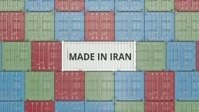 Εμπορευματοκιβώτιο με ΚΑΜΕΝΟΣ στο κείμενο του ΙΡΑΝ Η ιρανική εισαγωγή ή η εξαγωγή αφορούσε την τρισδιάστατη απόδοση ελεύθερη απεικόνιση δικαιώματος