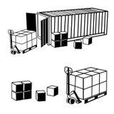 Εμπορευματοκιβώτιο που απομονώνεται στην άσπρη ανασκόπηση Στοκ Εικόνες
