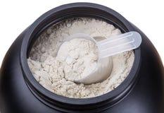 Εμπορευματοκιβώτιο της πρωτεΐνης ορρού γάλακτος γάλακτος Στοκ εικόνες με δικαίωμα ελεύθερης χρήσης