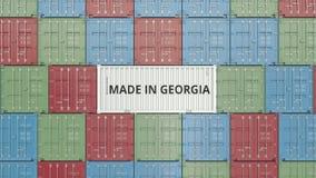 Εμπορευματοκιβώτιο φορτίου με ΚΑΜΕΝΟΣ στο κείμενο της ΓΕΩΡΓΙΑΣ Η της Γεωργίας εισαγωγή ή η εξαγωγή αφορούσε την τρισδιάστατη απόδ απεικόνιση αποθεμάτων