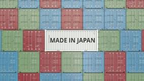 Εμπορευματοκιβώτιο φορτίου με ΚΑΜΕΝΟΣ στο κείμενο της ΙΑΠΩΝΙΑΣ Η ιαπωνική εισαγωγή ή η εξαγωγή αφορούσε την τρισδιάστατη απόδοση απεικόνιση αποθεμάτων