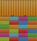 εμπορευματοκιβώτιο φορτίου απεικόνιση αποθεμάτων
