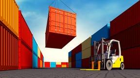 Εμπορευματοκιβώτιο φόρτωσης απεικόνιση αποθεμάτων